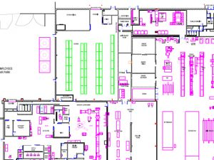 2D Draughting, Plant layout,Factory CAD drawing, 2D CAD services, Cadtoday limited